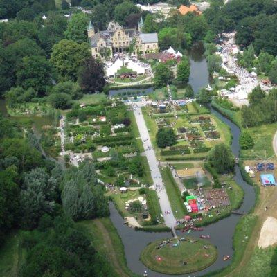 Luftaufnahme - südlicher Parkbereich Schloß Ippenburg