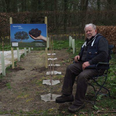 Itze Riemeyer in seinem Ippenburger Trüffelgarten
